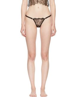 Black Rose Lace Cheeky Thong
