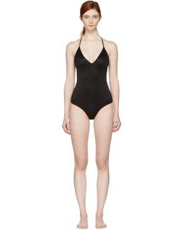 Black V-neck Bodysuit