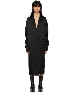 Black Kuipur Wrap Dress