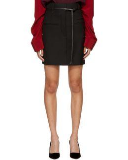 Black Wool Miniskirt