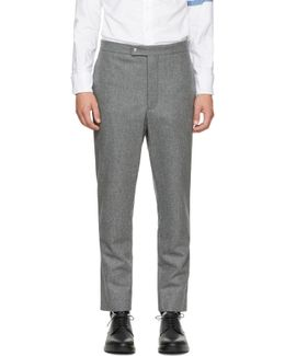 Grey Classic Wool Trousers