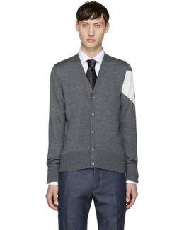 Grey Chevron Sleeve Cardigan