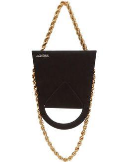 Black Suede 'le Sac À L'envers' Bag