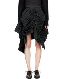Black Gathered Skirt