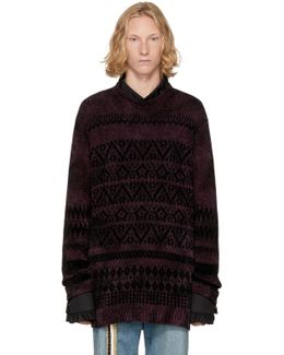 Purple Jacquard Sweater