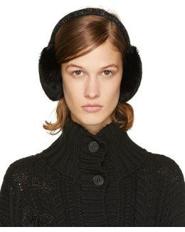 Black Fur Earmuffs