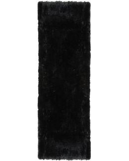 Black Fur Pocket Scarf