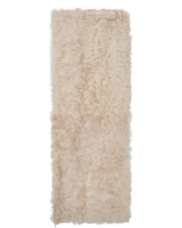 Ivory Shearling Vest Scarf