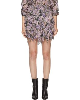 Purple Jocky Miniskirt