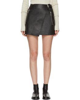 Black Leather Kakili Miniskirt