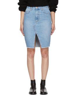 Blue Denim Chadow Skirt