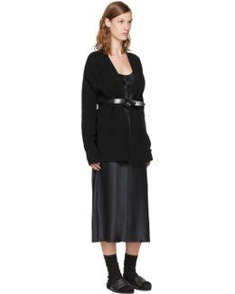 Black Lecce Wrap Belt