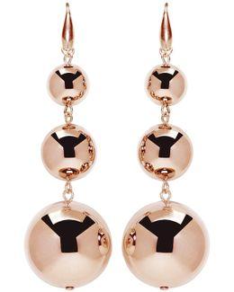 Rose Gold Harvey Multi Sphere Earrings