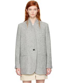 Grey Herringbone Elis Coat
