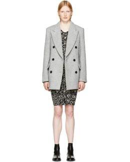 Grey Herringbone Elley Coat