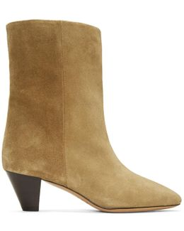 Tan Suede Dyna Boots