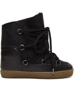 Grey Sheepskin Nowles Boots