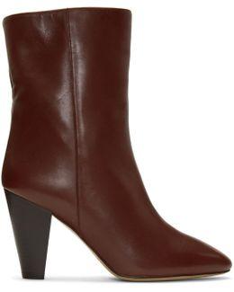 Burgundy Darilay Boots