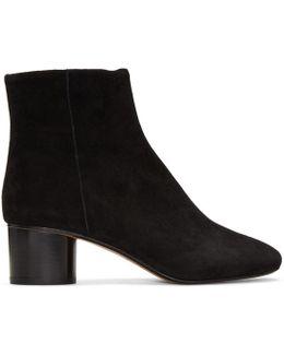 Black Suede Danae Boots