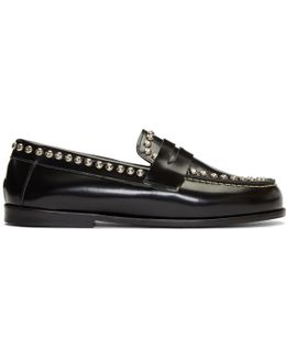 Black Fenzay Studded Loafers
