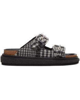 Grey Check Ledkin Slides