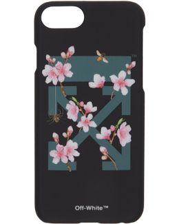 Black Cherry Flowers Iphone 7 Case