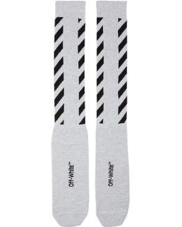 Glitter Diagonal Socks