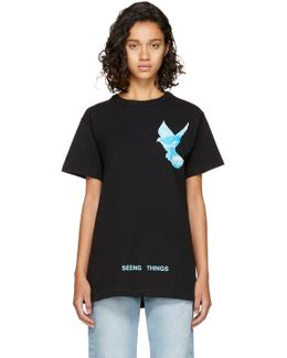 Black 'not Real' Dove T-shirt