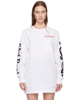 White Long Sleeve 'not Real' T-shirt