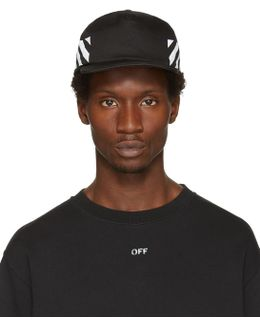 Black Diagonal Brushed Cap