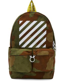 Green Camouflage Diagonal Backpack