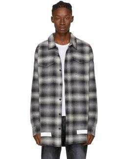 Black & White Diagonal Check Shirt