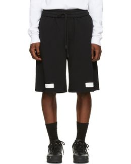 Black Diagonal Arrows Shorts