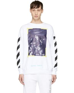 White Diagonal Caravaggio Sweatshirt