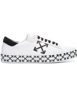 White Vulcanised Arrows Sneakers