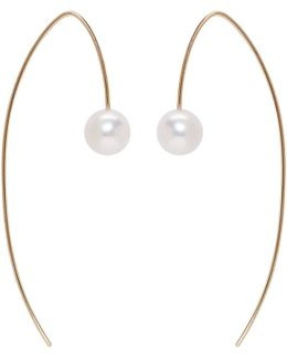 Gold Akoya Pearl Drop Earrings