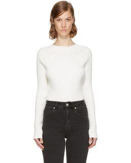 White Vega Crewneck Sweater