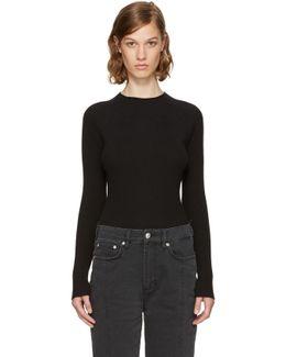 Black Vega Crewneck Sweater