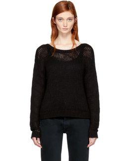 Black Cropped Zarina Sweater