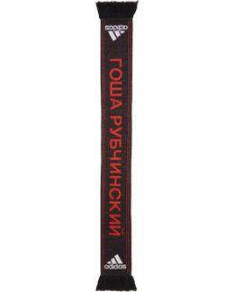 Black Adidas Originals Edition Logo Football Scarf