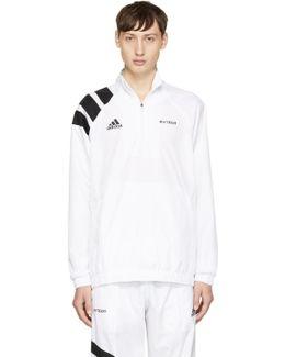 White Adidas Originals Edition Zip Collar Jacket