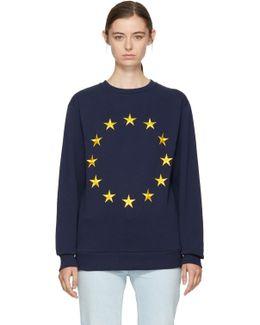 Navy Étoile Europa Sweatshirt