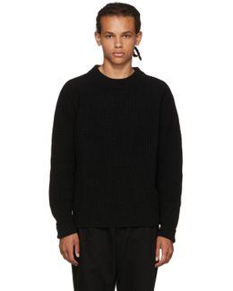 Black Echo Crewneck Sweater