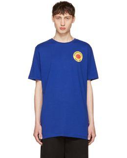 Blue Page Smiling Sun T-shirt