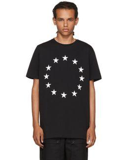 Black Europa Stars T-shirt
