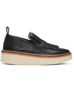 Black Trianon Platform Loafers