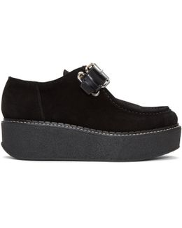 Black Suede Zenith Platform Loafers