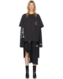 Black Layered T-shirt Dress