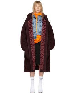 Burgundy Bathrobe Coat