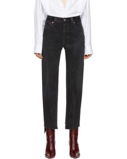 Black Reworked Push Up Jeans